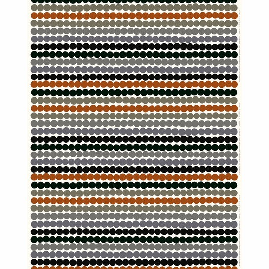 Marimekko Rasymatto White / Grey / Brown Acrylic-Coated Cotton Fabric