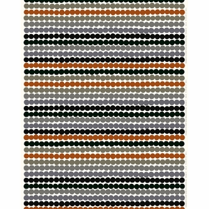 Marimekko Rasymatto White / Grey / Chestnut Brown Fabric