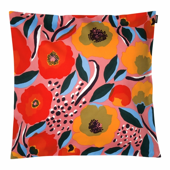 Marimekko Rosarium Pink / Multi Large Throw Pillow