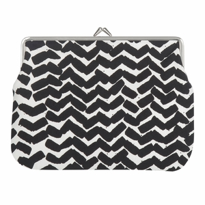Marimekko Sahalaitaraita White / Black Large Coin Purse