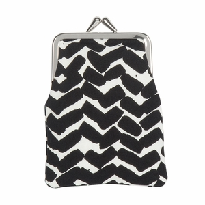 Marimekko Sahalaitaraita White / Black Small Coin Purse