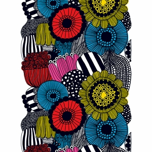 Marimekko Siirtolapuutarha Multicolor Cotton Fabric Repeat