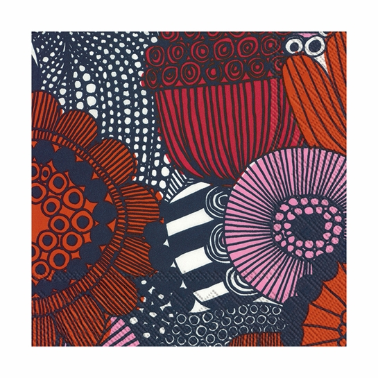 Marimekko Siirtolapuutarha Navy / Orange Lunch Napkins