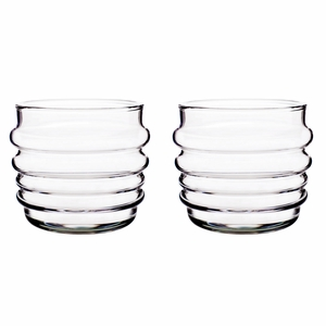 Marimekko Socks Rolled Down Clear Tumblers - Set of 2