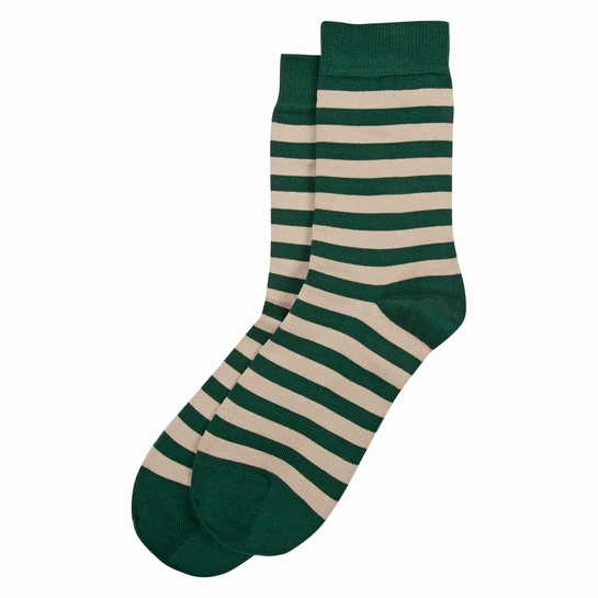 Marimekko Striped Green / Beige Socks