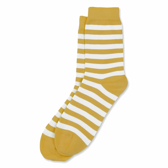 Marimekko White / Mustard Striped Socks