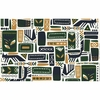 Marimekko Svaale Grey / Navy / Green Acrylic-coated Cotton Fabric