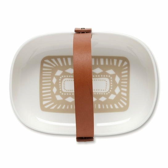 Marimekko Svaale Koppa Serving Dish w/ Leather Handle