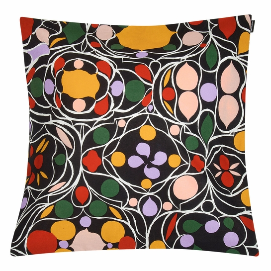 Marimekko Talvipalatsi Black / Multi Throw Pillow