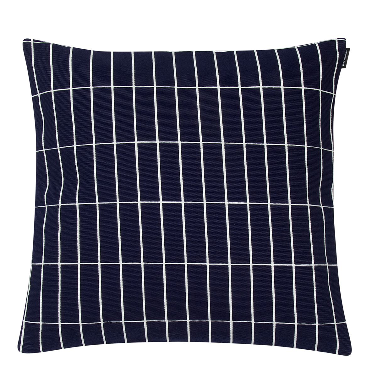 Magnificent Marimekko Tiiliskivi Navy White Small Throw Pillow Inzonedesignstudio Interior Chair Design Inzonedesignstudiocom
