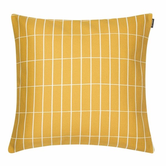 Marimekko Tiiliskivi Yellow Small Throw Pillow