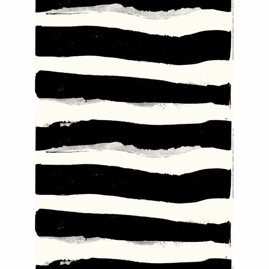 Marimekko Tuubiraita White / Black Fabric Repeat