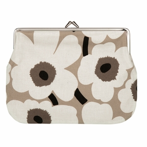 Marimekko Unikko Beige / Ivory / Black Large Coin Purse