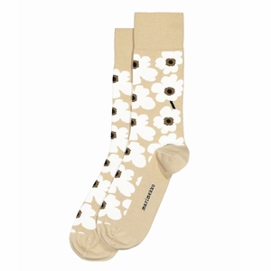 Marimekko Unikko Beige / White / Brown Socks