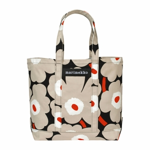 Marimekko Unikko Black / Beige / Orange Peruskassi Bag