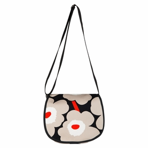 Marimekko Unikko Black / Beige / Orange Salli Shoulder Bag
