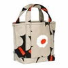 Marimekko Unikko Black / Beige / Orange Seidi Bag