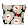 Marimekko Unikko Black / Beige / Orange Venni Shoulder Bag