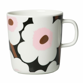 Marimekko Unikko Dark Green / White / Pink Large Mug