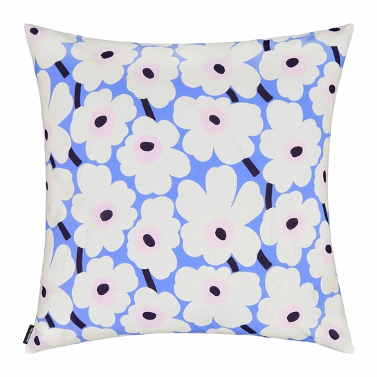 Marimekko Unikko Blue / Pink / Ivory Medium Throw Pillow