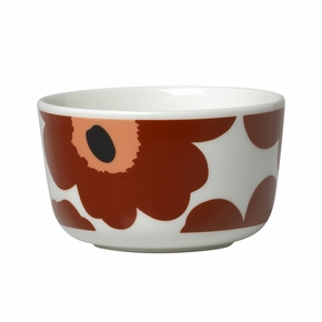 Marimekko Unikko Brown / Beige / Black Dessert Bowl