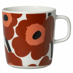 Marimekko Unikko Brown / Beige / Black Large Mug