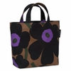 Marimekko Unikko Brown / Purple / Black Veronika Bag