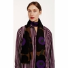 Marimekko Unikko Brown / Purple / Black Fiore Scarf