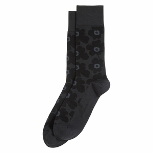 Marimekko Unikko Charcoal / Black Men's Socks