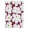 Marimekko Unikko Cranberry / Grey / Olive Tea Towel - Set of 2