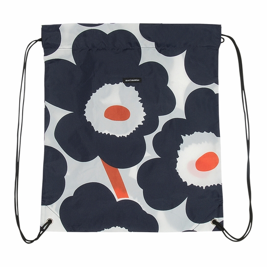 Marimekko Unikko Ecru / Navy / Orange Smart Sack