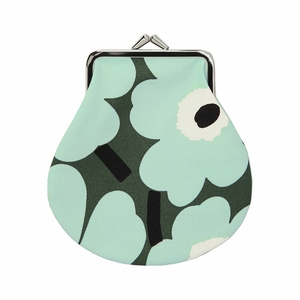 Marimekko Unikko Green / Mint Coin Purse