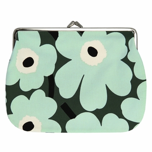 Marimekko Unikko Green / Mint Large Coin Purse