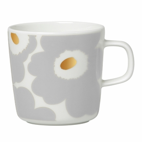 Marimekko Unikko Grey / Gold Coffee Cup