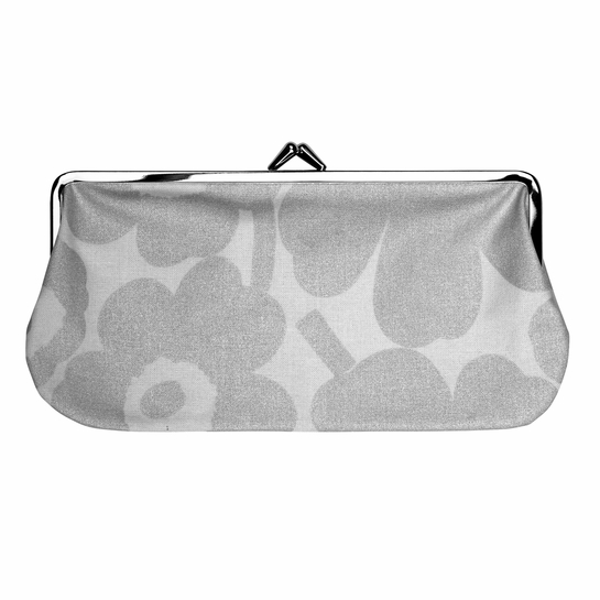 Marimekko Unikko Grey / Silver Oblong Coin Purse