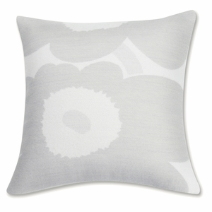 Marimekko Unikko Ivory / Grey Throw Pillow