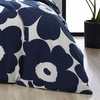 Marimekko Unikko Indigo Full / Queen Duvet Cover Set