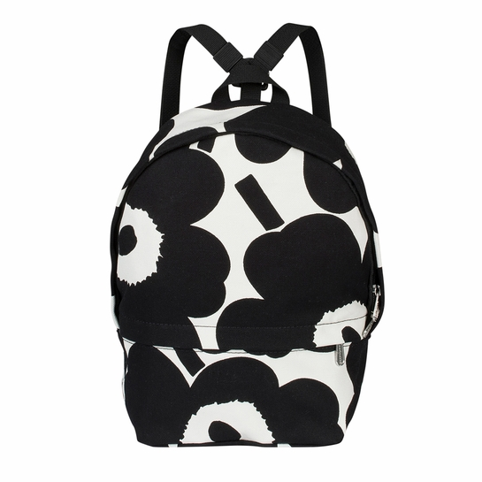 Marimekko Unikko Ivory / Black Mini Eira Backpack