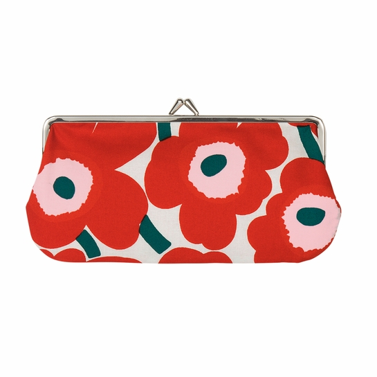 Marimekko Unikko Ivory / Red / Green Eyeglass Case