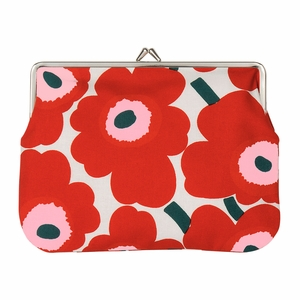 Marimekko Unikko Ivory / Red / Green Large Coin Purse