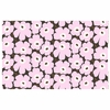 Marimekko Pieni Unikko Lilac / Brown Acrylic-coated Cotton Fabric