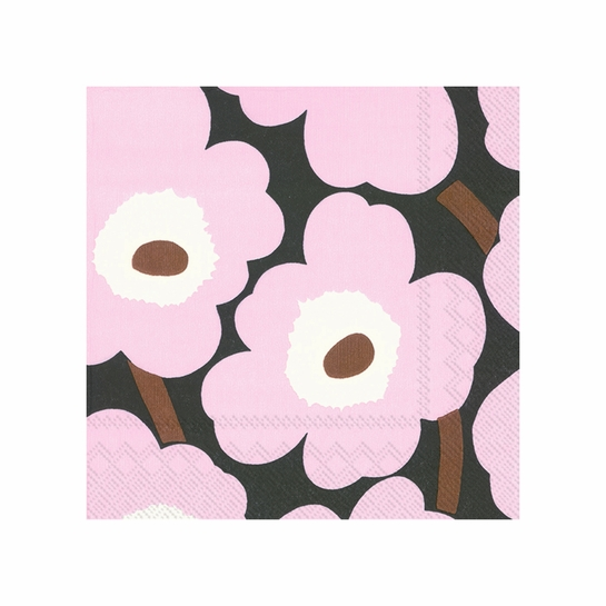 Marimekko Unikko Lilac / Brown Cocktail Napkins