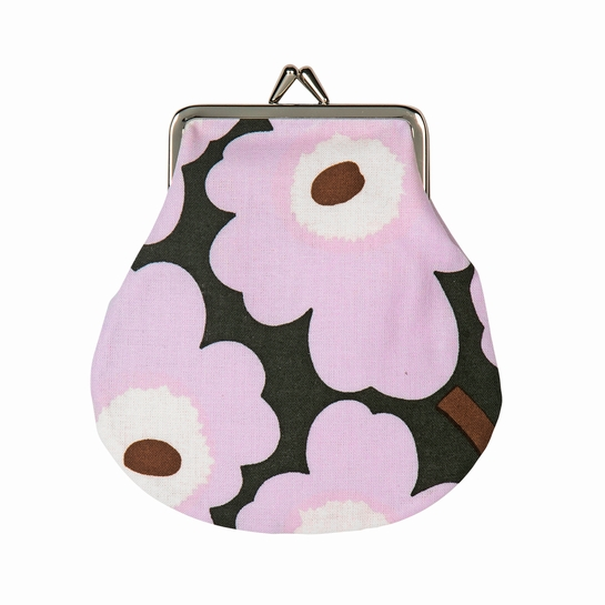 Marimekko Unikko Lilac / Brown Coin Purse
