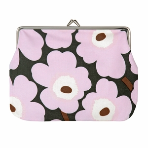 Marimekko Unikko Lilac / Brown Large Coin Purse
