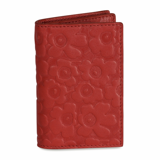 Marimekko Unikko Mona Red Leather Wallet