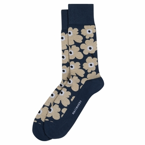 Marimekko Unikko Navy / Beige / Black Men's Socks