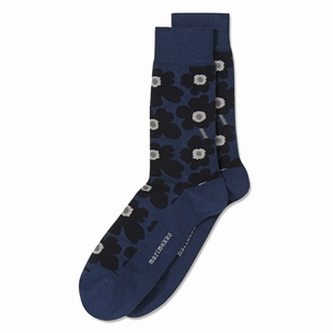 Marimekko Unikko Navy / Grey Men's Socks