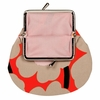 Marimekko Unikko Orange / Beige / Pink Coin Purse