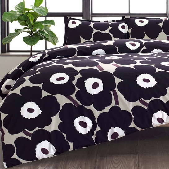 Marimekko Unikko Paloma Full / Queen Duvet Cover Set