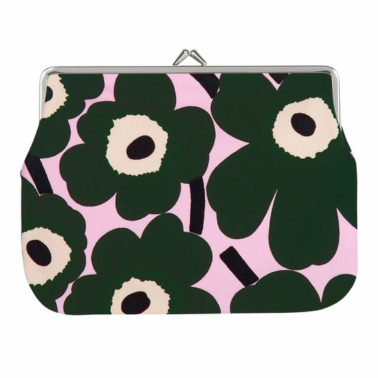 Marimekko Unikko Pink / Green Large Coin Purse